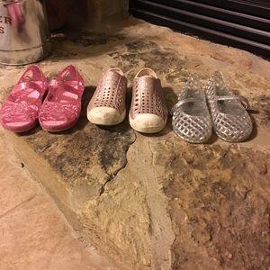 Toddler girl shoe lot